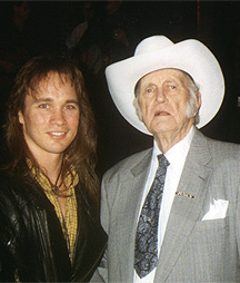 Chris Eaton with Bill Monroe