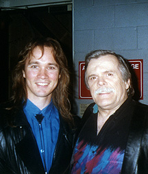 Chris Eaton with Johnny Paycheck